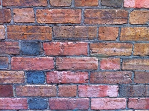 a wall of old brick